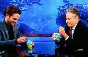 Video: Robert Pattinson Gets Consolation (and Ice Cream) from Jon Stewart on 'The Daily Show'