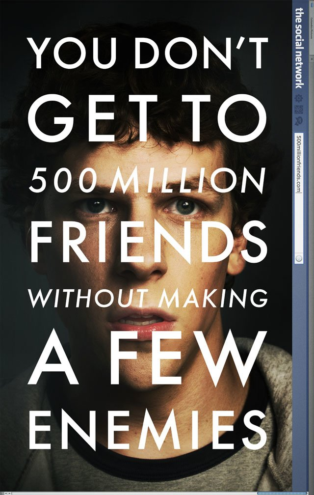 Mark Zuckerburg and The Social Network Poster