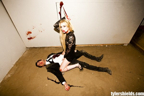 lindsay lohan vampire shoot. The other bloody Lohan photos